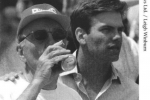 Rupert and Lachlan Murdoch after the 1995 Hobart.